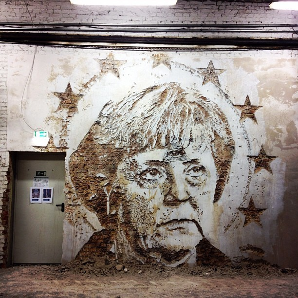 artchipel:  Alexandre Farto aka Vhils | on Tumblr - Berlin Vhils