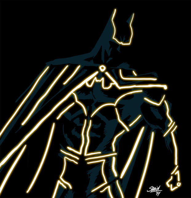courage-mylove:  Justice League: TRON by Sahin Düzgün