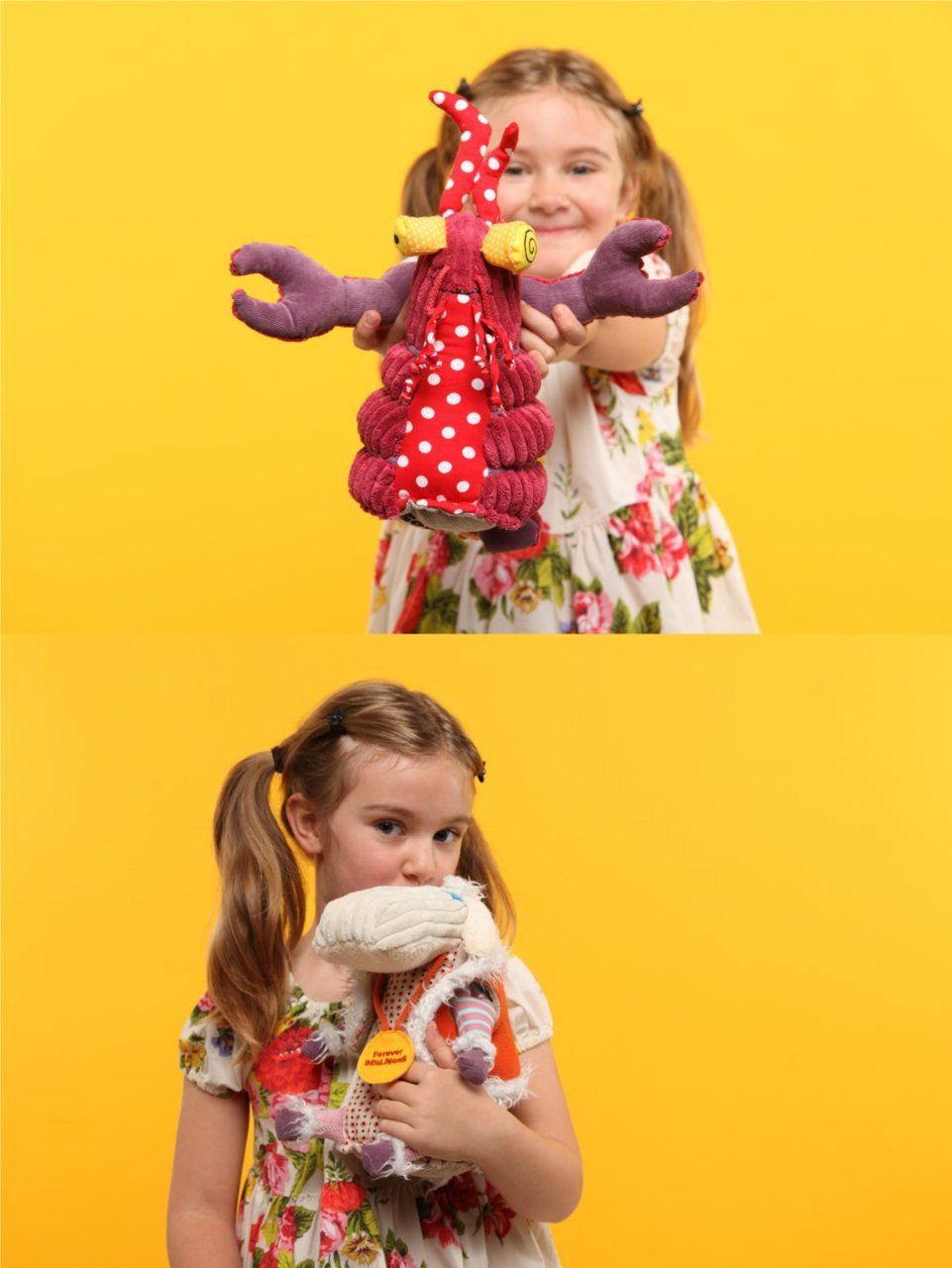 Geared For Imagination's kooky plush characters are too much fun for kids on set at zulily!