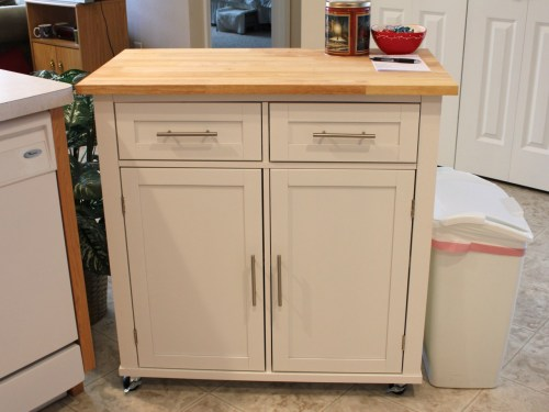 Said furniture. A new kitchen island from Target. Love it! More storage and counter space!