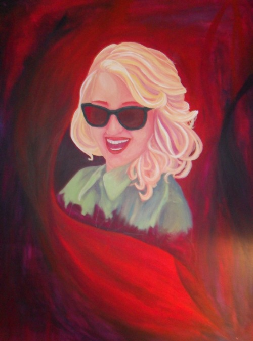 Dianna Agron 1m x 1.2m canvas Around 10 hours to paint
