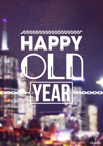 Happy Old Year! by http://www.bramvanhaeren.com