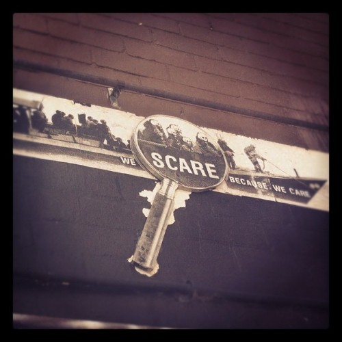 we scare cause we care #melbourne #streetart #laneway (Taken with Instagram at Acland Street)