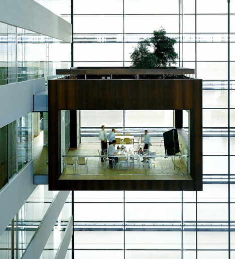 Danish bank Nykredit's headquarters by Schmidt hammer Lassen Architects.