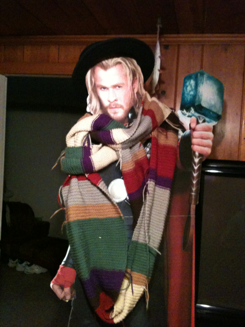 "YOUR ARGUMENT IS INVALID!! doctorwho:  Thor: God of Thunder is a Whovian girlwithgreenglasses:  thordoingthings:  I have become a fan of the Midgardian bebecee show ""Doctor Who"".  It is quite good.  YES."