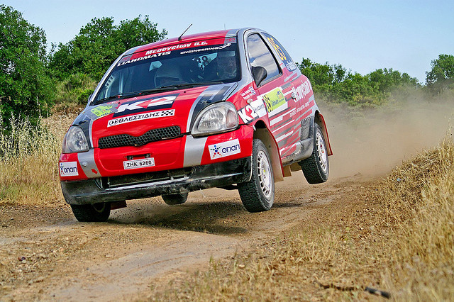 "foreignvoyeur:  Yaris says, ""I believe I can fly!"" By bazilpo WRC+Rally"