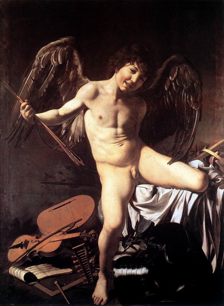 Amor Vincit Omnia (1602-1603), oil on canvas, Berlin State Museums, Germany | artwork by Caravaggio