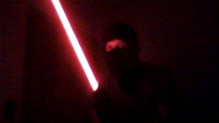 My lightsaber. Eets so cool.
