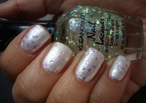 Kleancolor- Sugar Coat layered over Sinful Colors- Tokyo Pearl.