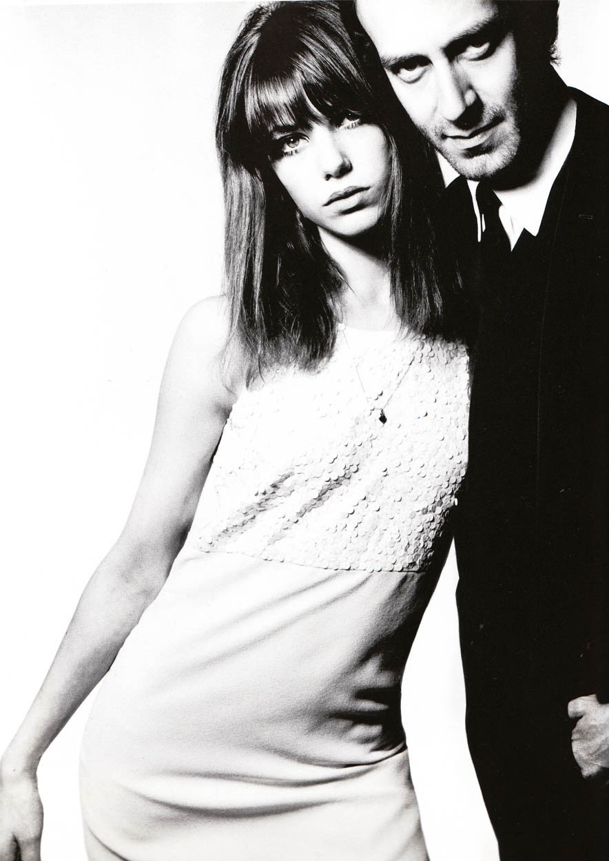 Jane Birkin and John Barry (1965). David Bailey.  (♣)