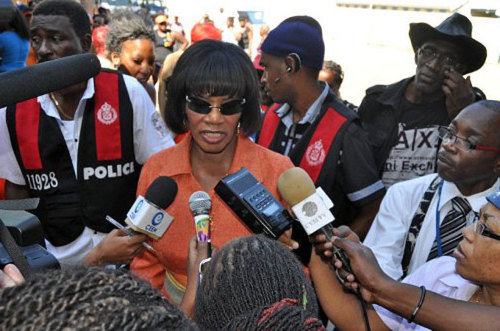 Formerly Jamaica's opposition leader, Portia Simpson Miller (PNP) was sworn in on the 5th Jan 2012. She's promises economic 'growth and development with job creation', to reduce the debt, probably through internationally trendy 'austerity' measures. And - like PJ Patterson - she has promised to make JA a republic.  (Image via aljazeera:)