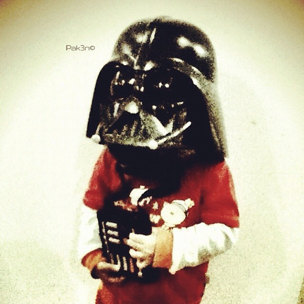 Little Vader in the house | #starwars #starwarsporn #swasia #swb #brutroops #darthvader #pak3n #toy #collection #toyphotography #brunei #brunika #helmet #mokties #family  (Taken with instagram)