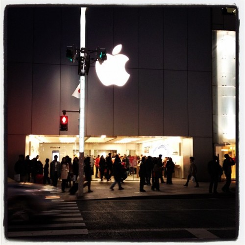 Apple store #apple #japan #store #tokyo #ginza #iphone #ipod #ipad #macbook #happy #fun #amazing (Taken with Instagram at アップルストア 銀座 (Apple Store, Ginza))