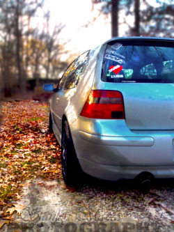 "Pic of my boy Alex's car ""Mindy"" Mk4 WINTER MODE  For more pics please follow: Projecteuro.tumblr.com"