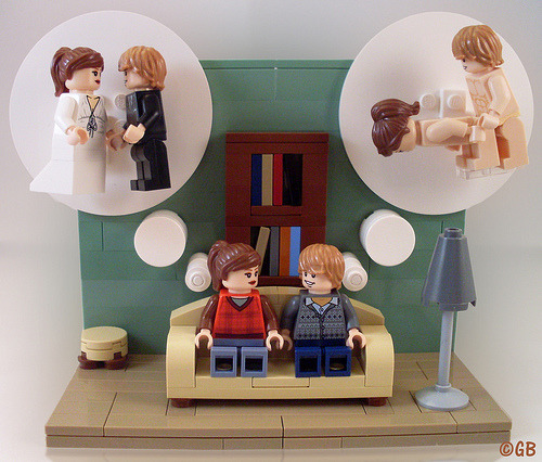 legozz:  He & She - Sometimes there is a difference between what he wants and what she wants in a relationship. (by Lego.Skrytsson)