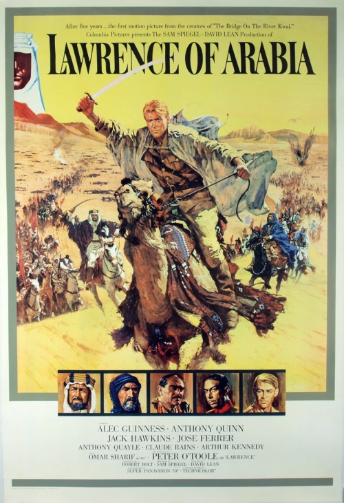 Lawrence of Arabia (1962) P365 Film #363 This is a truly epic film. Not just in its running time (which is substantial), but in its scope and ambition. It depicts a man's travels and experiences in Arabia during World War I. The landscapes are pretty amazing and it's filmed beautifully. However, I can't say I enjoyed all of it. What I did enjoy were the scenes of emotion and character moments. On the other hand, seeing people ride on camels for extended amounts of time, political talk and a rather slow-moving film in general, doesn't interest me so much. I imagine a lot of film buffs would heavily disagree with me on all of this, but, while I can easily praise how well-made it is, simply, this film just didn't do it for me.