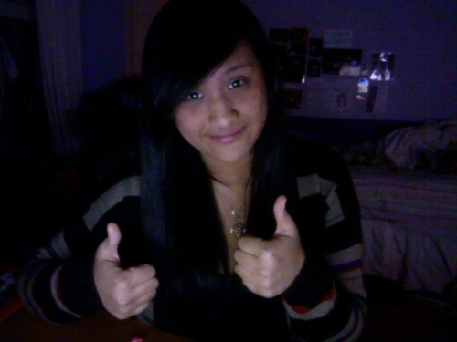 I like to thumbs up people. It's like my signature thing to do. Iunno.