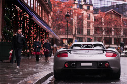 porschelove:  Porsche Carrera GT (Type 980) in Paris, France. Photo by Léonard Boncenne.