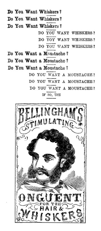 Bellingham's Stimulating Onguent for the Hair & Whiskers, ca 1870