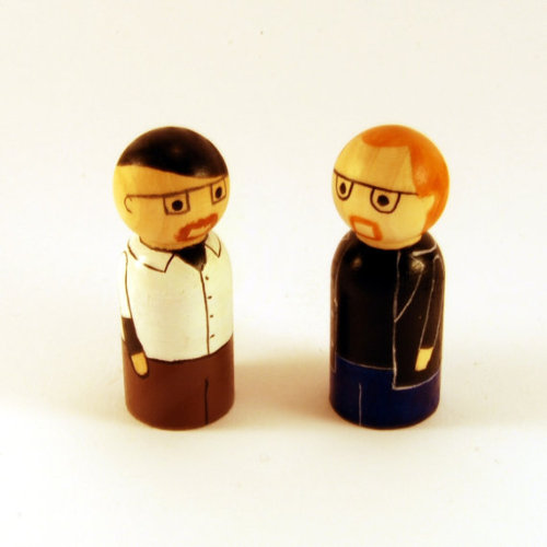Peg people versions of Adam Savage and Jamie Hyneman from 'Mythbusters' - these guys may be my new favourite peg people