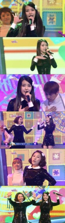 111230 SBS Entertainment Awards - IU and Shin Bong Sun