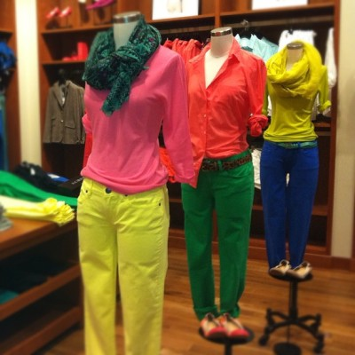 jcrewedatarget:  Color blocked mannequins  (Taken with instagram)
