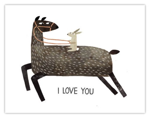 Card by Jon Klassen, my new favourite illustrator