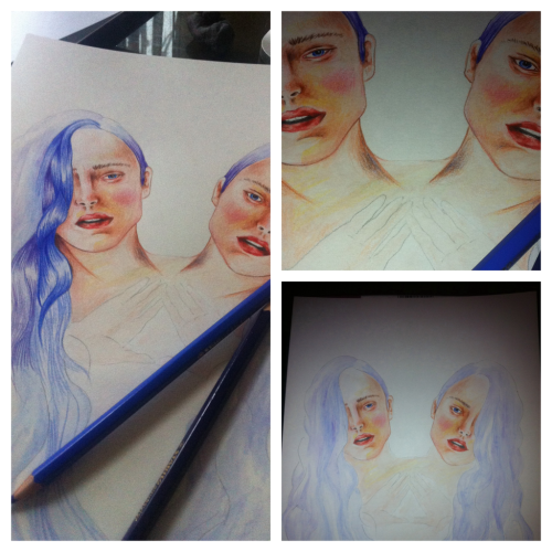Trying out some watercolour pencils. Hopefully have it finished by the weekend..