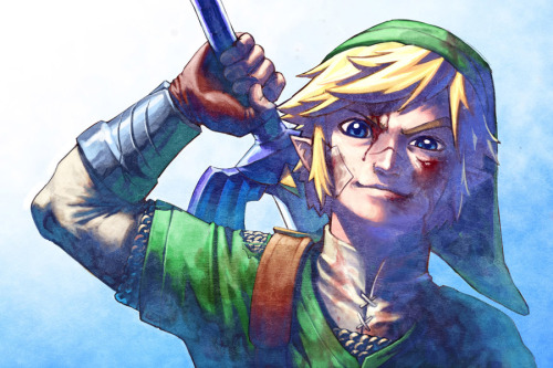 justinrampage:  The lovely Zelda and battle hardened Link look pretty amazing in the dual commission illustrations by artist Fernando Cano. See more of his work here. Related Rampage: Shadow Link Link & Zelda by Fernando Cano (deviantART)