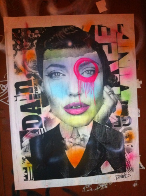 Angelina Jolie collage by Dain Brooklyn
