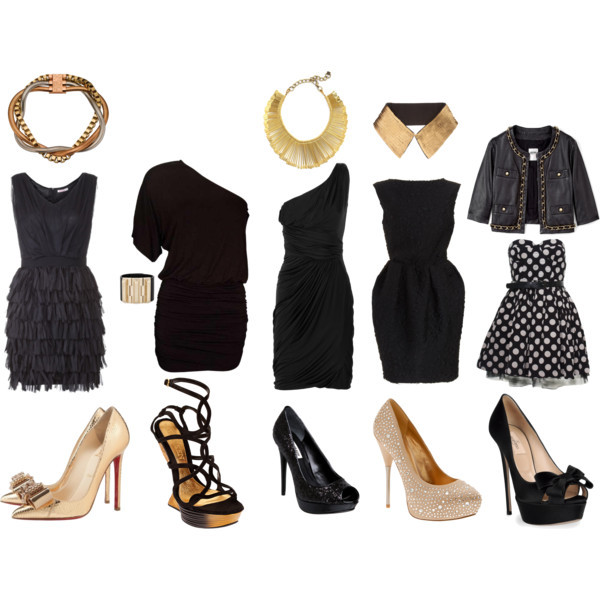 What To Wear: Black for New Year's Eve Party by marialyssa featuring heel pumps WHAT TO WEAR: New Year's Eve Party read about it here