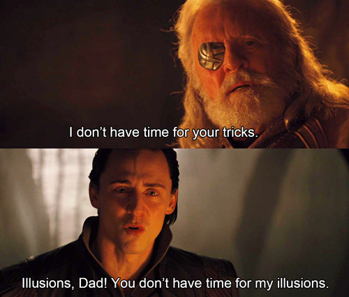 Loki being Gob makes everything that was once heart breaking become hilarious.