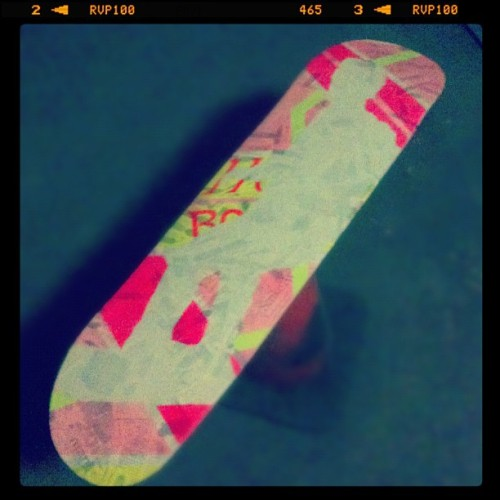 Hoverboard #art #stencil #wip #mcfly (Taken with instagram)