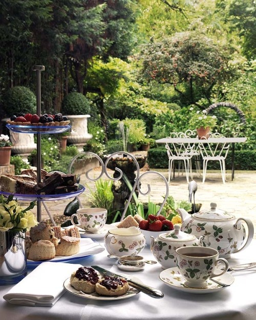 I'll take my tea in the gardens