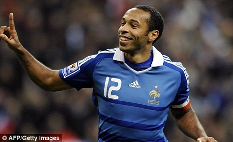 Thierry Henry will wear No 12 shirt at Arsenal  Cheers @DonSteele on the tip via Twitter. - DJ (Via Mail Online)