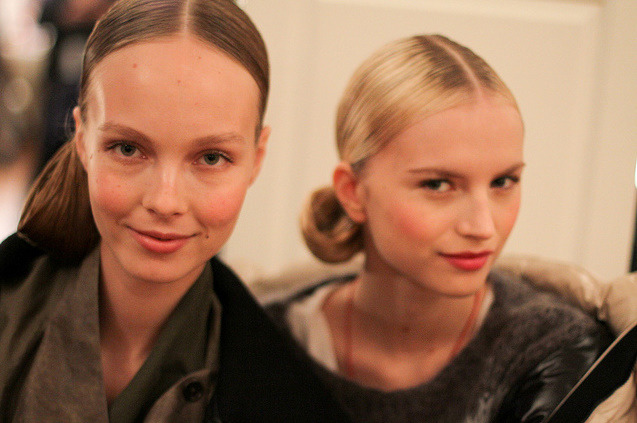 Backstage at Oscar de la Renta Pre-Fall 2012