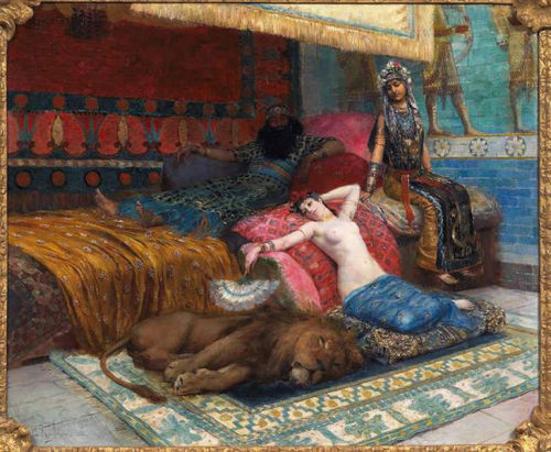 My Bohemian Aesthetic The Slave and The Lion - Georges Rochegrosse