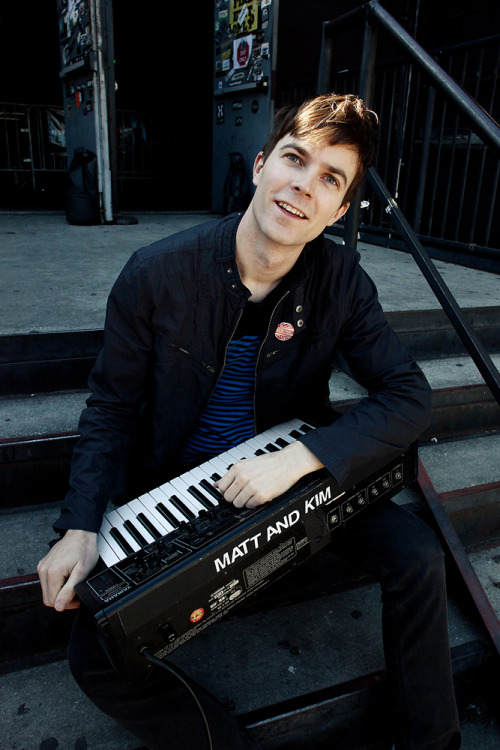 New photograph: Matt Johnson (Matt & Kim)