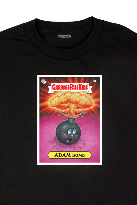garbage pail kids X the hundreds adam bomb T