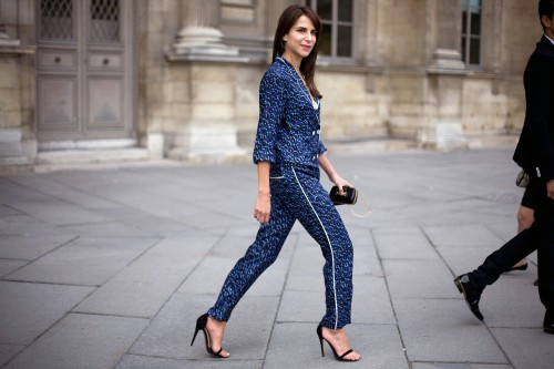 Street Chic_ Caroline Sieber,Stylist At Louis Vuitton. Paris Fashion Week- Spring 2012