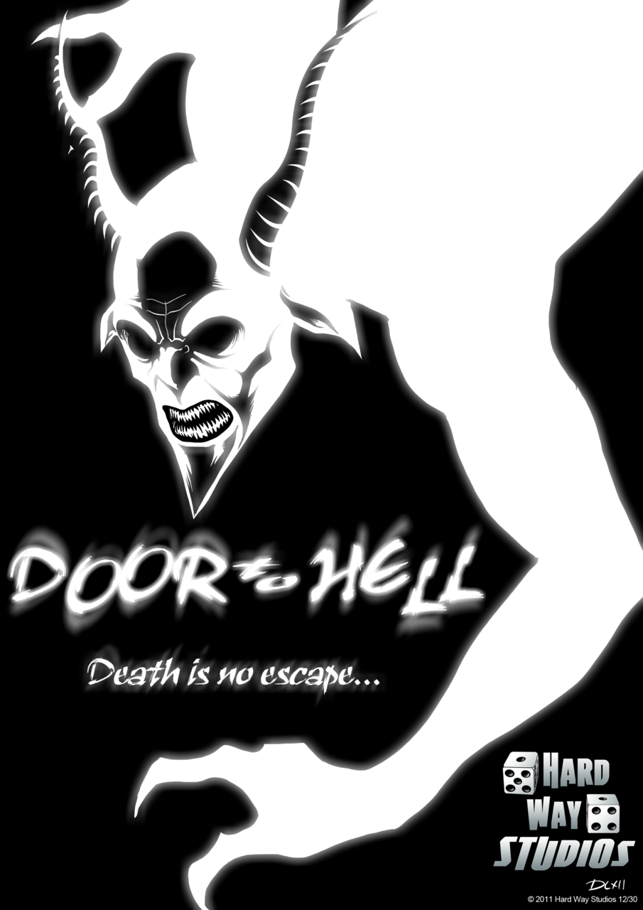 A sneak peak for our upcoming book Door to Hell from Hard Way Studios! Make sure to follow us and keep an eye out for more awesome stuff and previews and sneak peaks!