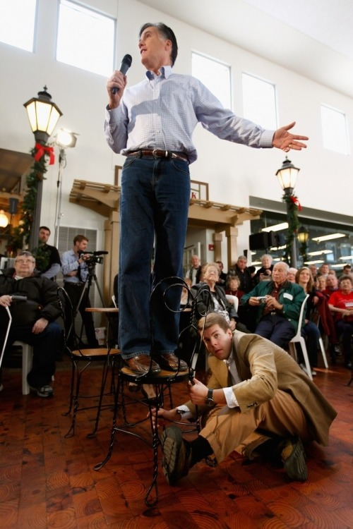 npr:  Mitt Romney's Chair Holder Photo: Chip Somodevilla / Getty Images