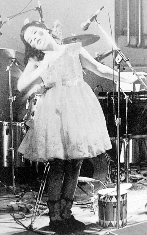 Bjork performing at sixteen