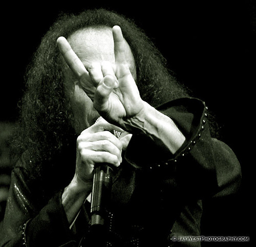 "laybesideme:   My List Of Heroes Ronnie James Dio (July 10, 1942 – May 16, 2010) ""I've never taken vocal lessons. My early trumpet training and a fortunate talent for singing has always been enough for me. In the case of rock singing, I've always felt it was better to remain a bit untrained to maintain your individuality.""  R.I.P"