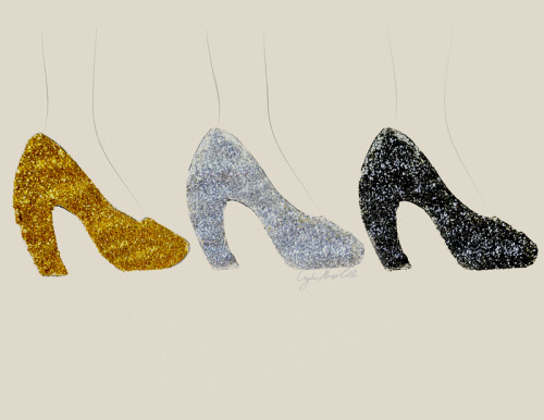 #Fashion Illustration: MIU MIU Glitter pumps, Fall/Winter 2011