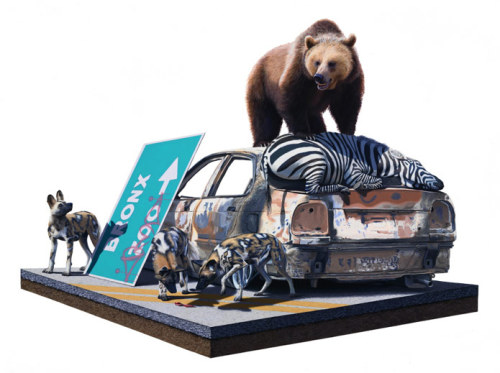 Friday inspiration! Josh Keyes makes the craziest situations look stunningly real. via Fecal Face.