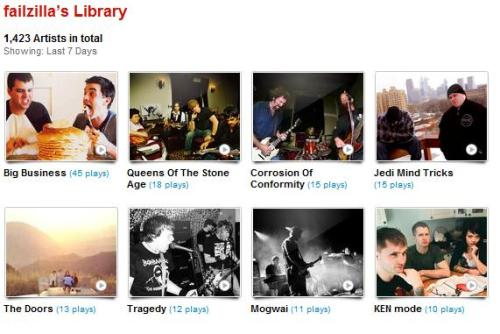 my last.fm for the week of 12/24/11 - 12/30/11