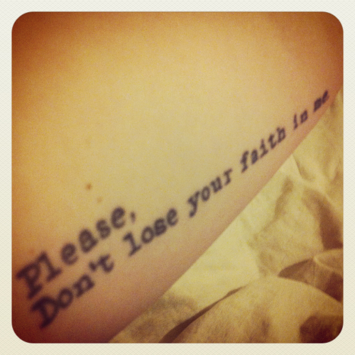 This is my tattoo! I got it in August 2011, a day before meeting the band that I didn't even know was going to happen :>