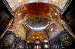 Interior of the Hagia Sophia, Istanbul, Turkey