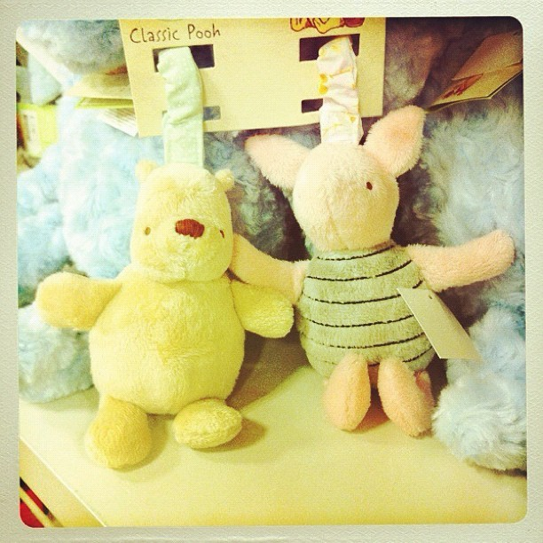 #winniethepooh #pooh #piglet #cute #toys #chapters #aamilne #plushtoys #cuddly #homedecor #decoration  (Taken with instagram)